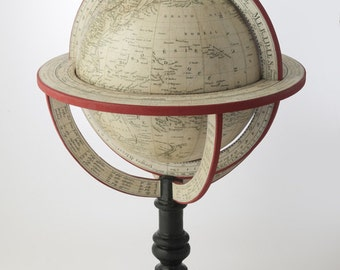 Reproduction Pierre Lapie Globe of the World