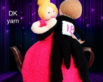 strictly dancing knitting pattern tea cosy teacozy cozy cosies PDF email