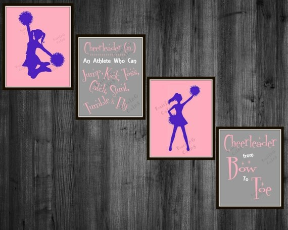 Girls Cheerleader Room Decor Cheerleading Wall art Cheer Photo