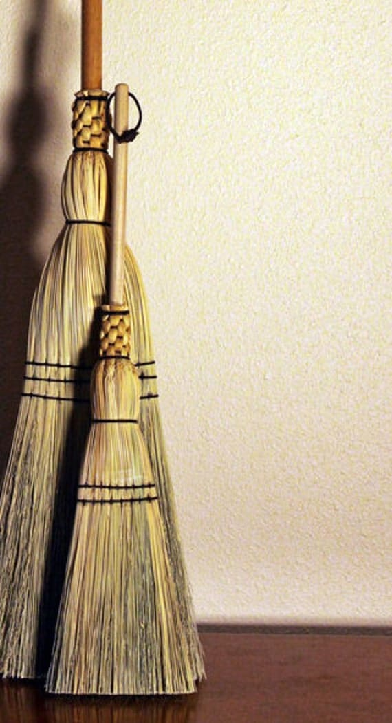 Toddler Size Corn Broom Woven Heritage Broom By