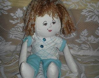 Hand-Sewn Material Girl Doll - Definitely OOAK