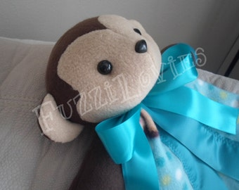 Monkeying Around Large Lovey for Children Made to Order