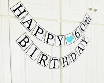 FREE SHIPPING, Happy Birthday banner, Birthday decorations, Happy birthday sign, Happy birthday decor, Birthday garland, Party decorations