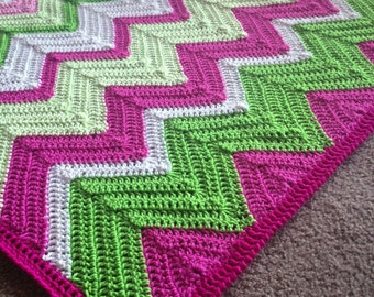 Pattern - BabyLove Brand Chevron2.0 Solid Chevron Blanket - Crochet Pattern/Tutorial - rectangle throw - blanket is also available