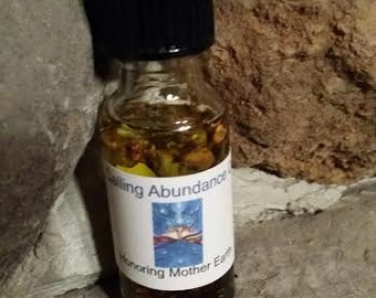 Calling Abundance Oil, Voodoo, Hoodoo,  Ritual, Candle, Altar, Wiccan, Pagan, Conjure