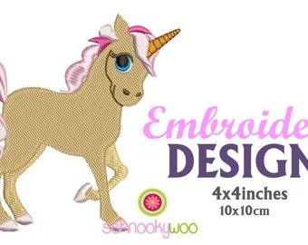 Unicorn Embroidery Design, Embroidery Unicorn, Unicorn PES, Horse, Pony, Unicorns