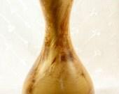 Vintage Spinning Aspen Studio Wood-Turned Aspen Wood Vase