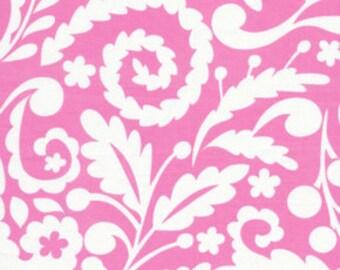 1 yard  Silhouette Pink- Dena Designs Tea Garden Fabric- Sateen