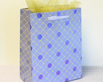 12x Paper Gift Bags w/ Handles, Purple, Wedding Shower Birthday Party Supplies
