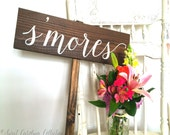 Rustic S'mores Wedding Sign - Directional -  WS-141