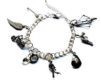 TWD Bracelet Walking Dead charm Bracelet Zombie Handmade Gift