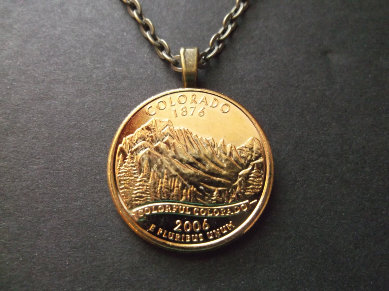 Colorado United States Gold Colored Quarter Coin by MistyGem