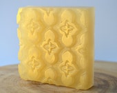 Gilty Pleasures Shimmering Gold Aloe Vera and Olive Oil Soap, Moroccan Tile,Chardonnay Scent