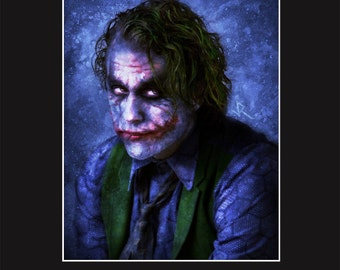 Joker 11X14 Matted Print - Signed by Joel Robinson