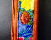 Colorful Leather Billfold Wallet