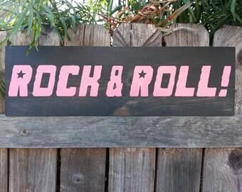 Beautiful all handmade wood decor Rock and Roll!