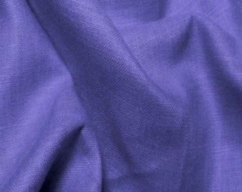 Linen Fabric By the Yard Camiso Lino 5oz- PERIWINKLE European Linen