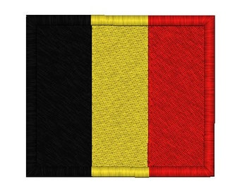 Belgium Flag Embroidery Design in 3 sizes