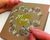 Mum, hand painted card