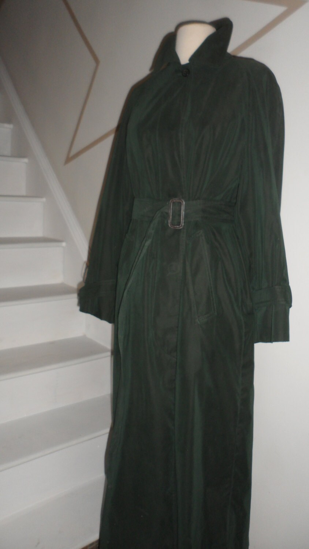 Sale Dark Hunter Green Burberry Trench Coat With Belt
