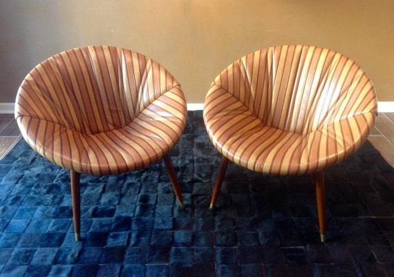 Mid Century Modern Eames Era Saucer Scoop Chairs 50 S
