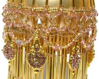 Pattern for Beaded Christmas Ornament cover - Golden Blush