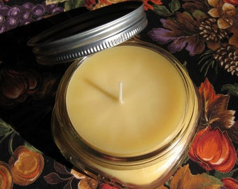 100% Natural Beeswax Candles in a jar