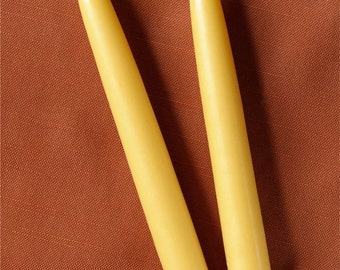 "100% Natural Beeswax 8"" & 10"" Taper Candles - Scented or Unscented"