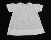 Vintage Handmade Cotton Infant Baby Dress