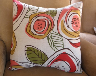 Big Sale !!! Floral Print Pillow Cover 20x20