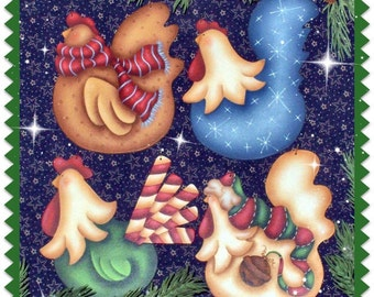 CC117 - More Funky Christmas Chickens Ornaments - Painting E Pattern by Cyndi Combs