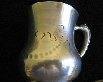 SILVER PLATED CUP Cincinnatus Quadruple Queen Cysil Co 160 Vintg/AntiqueCL8-28