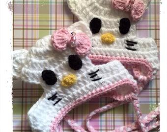 Miss Kitty Dog Hat - Crochet