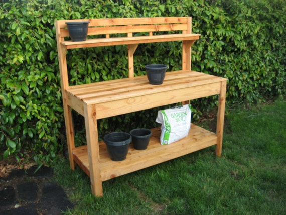 Cedar Potting Bench From Customraisedgardens On Etsy Studio