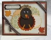 Happy Thanksgiving Card Googly Eye Turkey