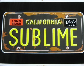 Sublime Music Blacklight Poster