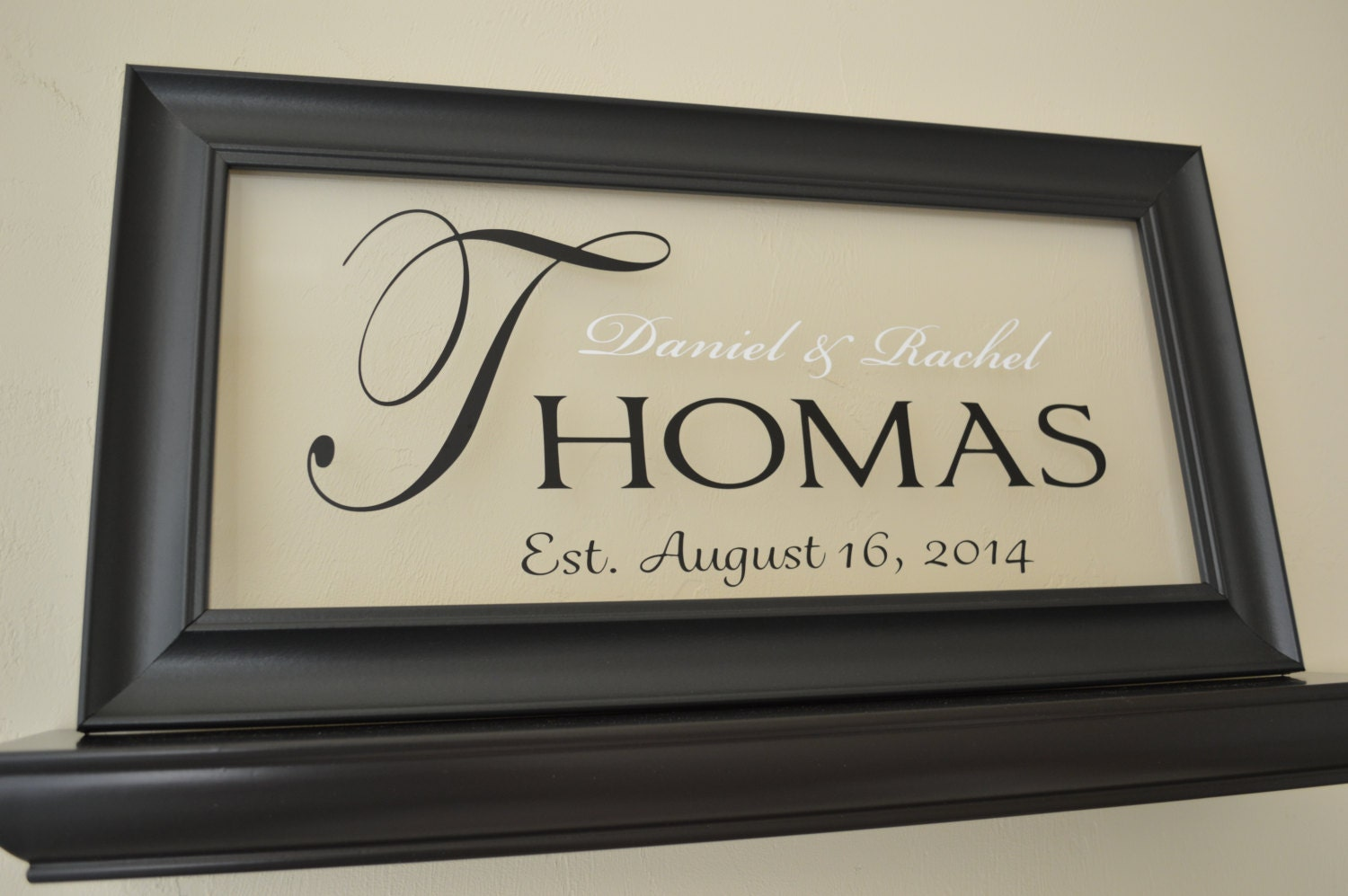 Personalized Picture Frame With Family Name Quote Family: Personalized Family Name Sign Picture Frame By