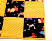 Baby Quilt, Hand Made Baby Quilt, Animal Baby Quilt, Animal Crib Quilt, Handmade Quilt