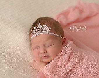 Mini Newborn Tiara Crown Baby Flower Girl Tiara Newborn Photography Prop