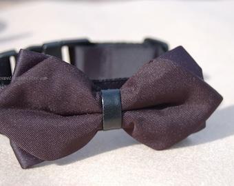 Cute Black Bow tie dog collar,Modern wedding dog collar.Pet party collar. dog wedding collar.pet collar, Birthday gift for dog