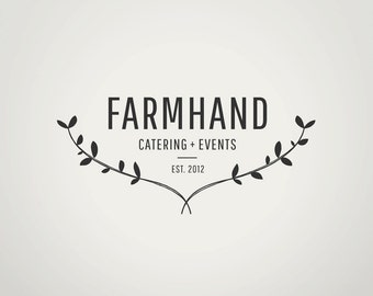 DIY Premade Logo Design | Custom Branding and Watermark | Instant Download | Editable Adobe Photoshop Logo Template | The Farmhand