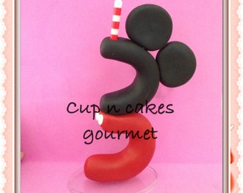Mickey Mouse Cake Topper / Candle  (every number)