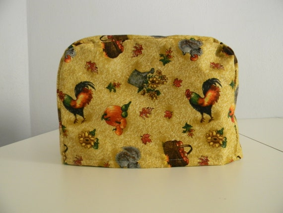 toaster cover 2 slice rooster with apples and sunflowers. Black Bedroom Furniture Sets. Home Design Ideas