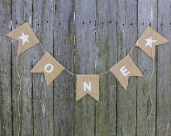 One Bunting. First Birthday Bunting. Turning 1 Garland. Cake Smash Photo Prop. Cake Smash Backdrop. First Birthday Party. Various Colours.