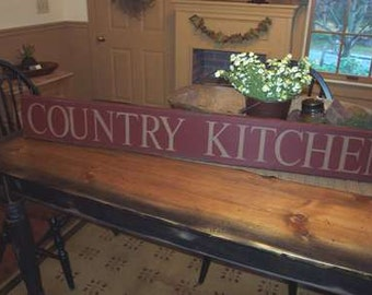 Country Kitchen primitive sign