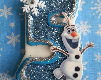 Elsa Birthday Candle, Frozen Birthday Candle, Elsa candle, Frozen candle, Olaf, Anna