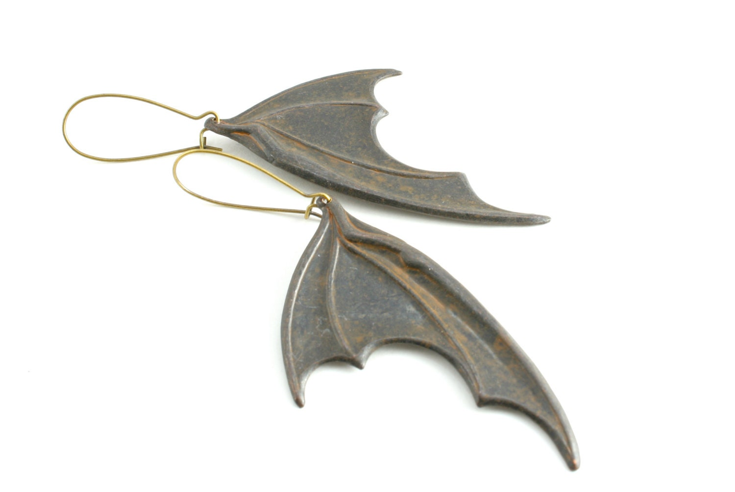 Black Bat Wing Earrings Dragons Wings by peachtreedesigns3 ... - photo#46