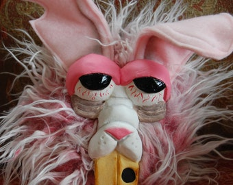 Handmade Plush Grumpy Bunny