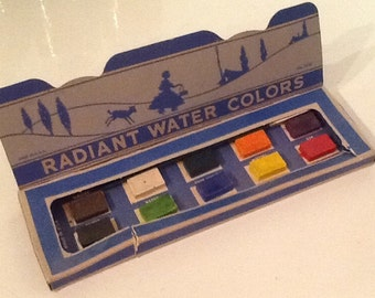 Vintage Water Colors Set in Box Unused