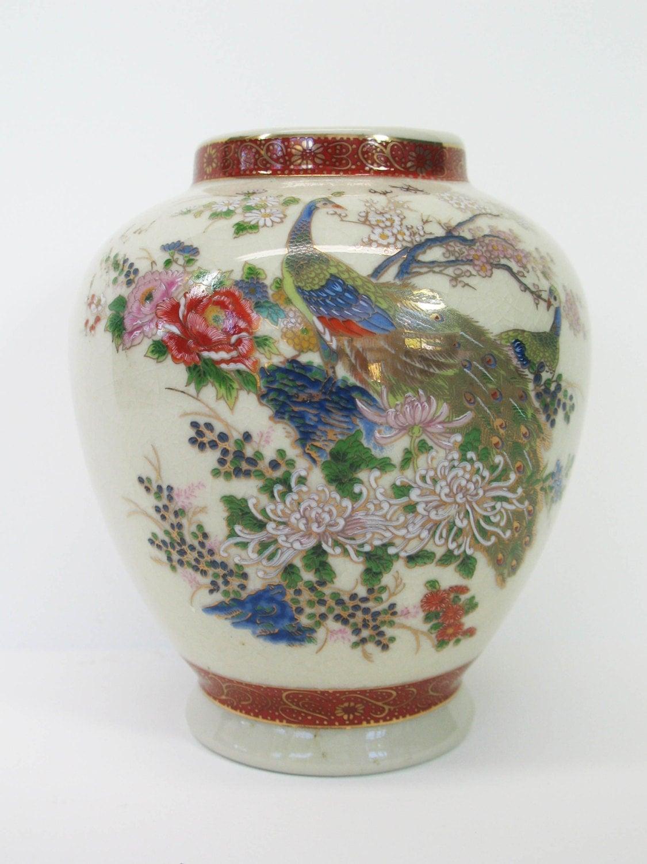 Satsuma Vase Japan Porcelain Teapot Serving Japanese Pottery